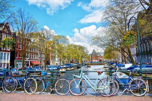 Amsterdam is een echte fietsstad